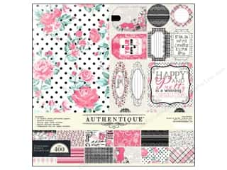 Sisters Crafting Kits: Authentique Collection Kit 12 x 12 in. Classique Pretty
