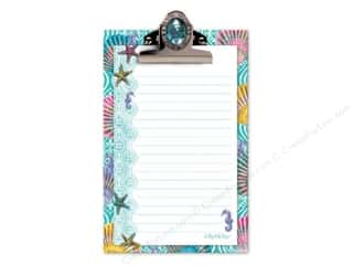 Office Pads: Lily McGee Note Pad Jeweled Clipboard Splash