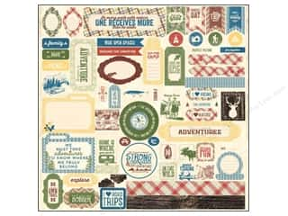 Authentique Stickers: Authentique Stickers 12 x 12 in. Adventure Details (12 sets)