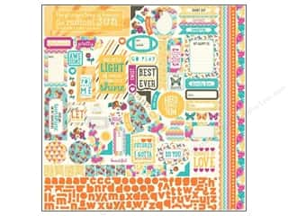 theme stickers: Authentique Stickers 12 x 12 in. Radiant Details (12 set)