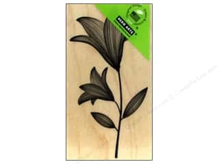 Clearance Art Impressions Rubber Stamp: Hero Arts Rubber Stamp Etched Flower With Stem
