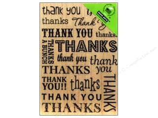 Rubber Stamping $6 - $8: Hero Arts Rubber Stamp Thank You / Thanks