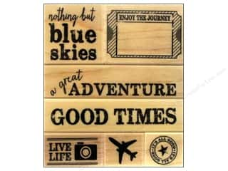 Stamped Goods Blue: Hero Arts Rubber Stamp Set A Great Adventure