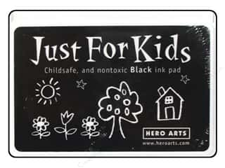 Stamping Ink Pads Kid Crafts: Hero Arts Just For Kids Ink Pad Black