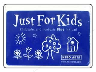 Stamping Ink Pads Ink, Ink Pads & Brayers: Hero Arts Just For Kids Ink Pad Blue