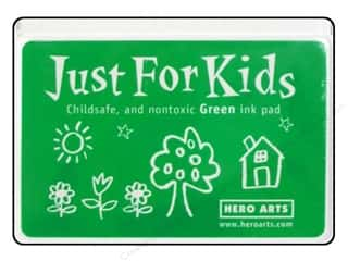 Stamping Ink Pads Brown: Hero Arts Just For Kids Ink Pad Green
