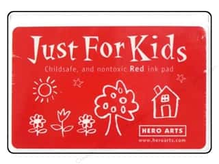 Stamping Ink Pads Brown: Hero Arts Just For Kids Ink Pad Red