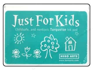Stamping Ink Pads Burgundy: Hero Arts Just For Kids Ink Pad Turquoise