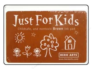 Stamping Ink Pads Brown: Hero Arts Just For Kids Ink Pad Brown