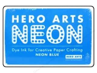 Stamping Ink Pads Blue: Hero Arts Neon Dye Ink Pad Neon Blue