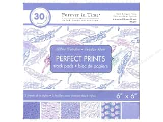"Floral & Garden Blue: Multicraft Stack Pad 6""x 6"" Perfect Prints Blue Garden"