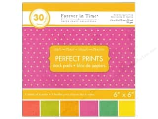 "Printed Paper: Multicraft Stack Pad 6""x 6"" Perfect Prints Dots Fruit"