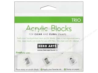 Acrylic Sheets: Hero Arts Acrylic Stamp Block Set Small