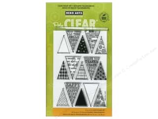 vintage rubber stamping: Hero Arts Poly Clear Stamp Friendly Flags