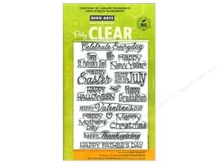 Leatherwork St. Patrick's Day: Hero Arts Poly Clear Stamp Celebrate Everyday