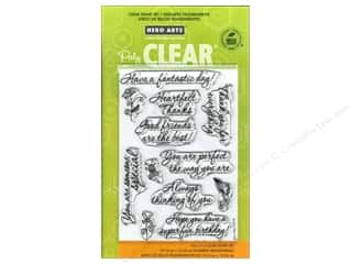 Stamped Goods Stamped Tablecloths: Hero Arts Poly Clear Stamp Good Friends