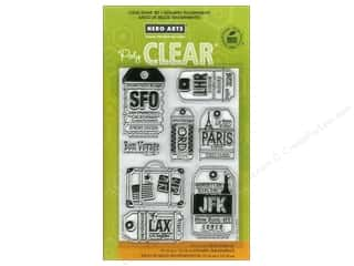 vintage rubber stamping: Hero Arts Poly Clear Stamp Luggage Tags