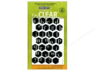 ABC & 123 Clear: Hero Arts Poly Clear Stamp Alphabet Hexagons
