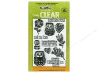 Rubber Stamping Everything You Love Sale: Hero Arts Poly Clear Stamp Howl Are You
