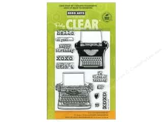Clearance Art Impressions Rubber Stamp: Hero Arts Poly Clear Stamps Typewriter Notes