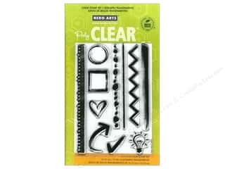 Straight Stitch Rubber Stamping: Hero Arts Poly Clear Stamp Notebook Essentials