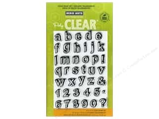 ABC & 123 Clear: Hero Arts Poly Clear Stamp Journal Letters
