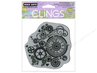 Clearance Art Impressions Rubber Stamp: Hero Arts Cling Stamp Watch Gears