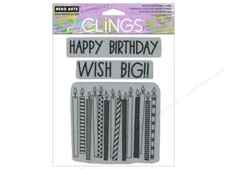 Clearance Art Impressions Rubber Stamp: Hero Arts Cling Stamp Wish Big Candles