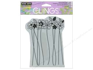 Hero Arts Cling Stamp Tall Flowers