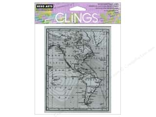 vintage rubber stamping: Hero Arts Cling Stamp Map of America