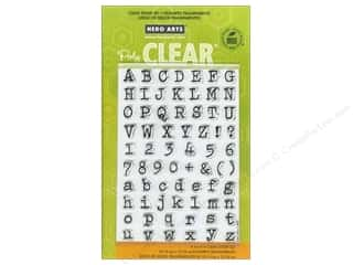 ABC & 123 Clear: Hero Arts Poly Clear Stamp Alpha Typewriter