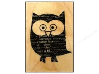 Rubber Stamping: Hero Arts Rubber Stamp Newspaper Owl