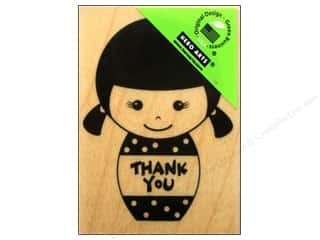American Girl Papers: Hero Arts Rubber Stamp Thank You Girl