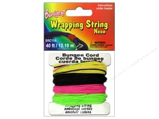Macrame Black: Pepperell Bungee Cord Wrap String Neon Pink/Yellow/Green/Black