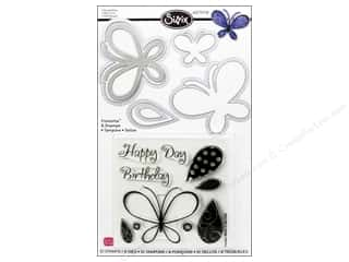 Insects $6 - $10: Sizzix Dies Stephanie Barnard Framelits Stamp Butterflies