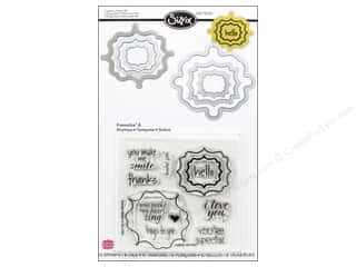 Sizzix Stamps: Sizzix Dies Framelits Stamp Labels Fancy 2 by Stephanie Barnard