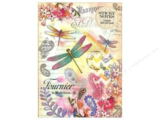 Punch Studio: Punch Studio Sticky Notes Padfolio Paisley Dragonfly