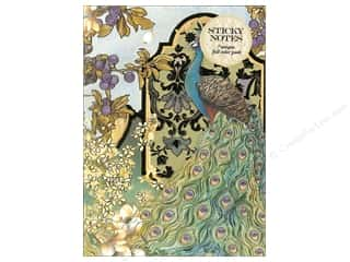 Punch Studio Sticky Notes Padfolio Peacocks/Garden