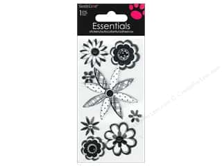 SandyLion Sticker Essentials Sketch Flowers Black