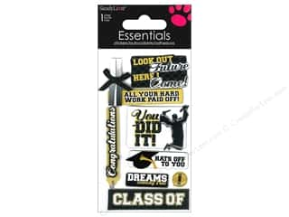 Graduations Black: SandyLion Sticker Essentials Graduation