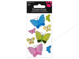 Insects Stickers: SandyLion Sticker Essentials Butterflies Rhinestones