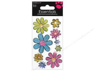 Unique Stickers: SandyLion Sticker Essentials Flowers Metallic