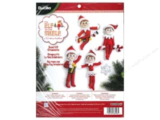 Weekly Specials Bucilla Beginner Cross Stitch Kit: Bucilla Elf On The Shelf Ornament Kit Set of 4