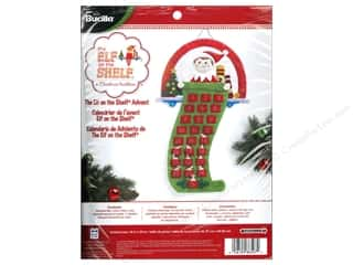 Weekly Specials Bucilla Beginner Cross Stitch Kit: Bucilla Elf On The Shelf Advent Calendar Kit