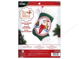 Weekly Specials Bucilla Beginner Cross Stitch Kit: Bucilla Elf On The Shelf 18 in. Felt Stocking Kit