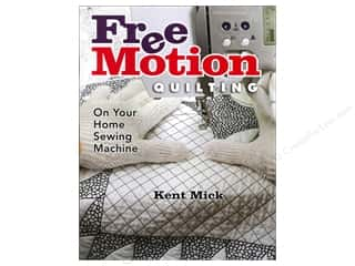 "Books & Patterns 11"": American Quilter's Society Free Motion Quilting On Your Home Sewing Machine Book by Kent Mick"