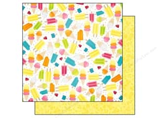 Bo Bunny 12 x 12 in. Paper Lemonade Stand Cream Pop (25 piece)