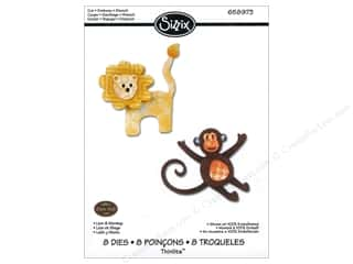 Sizzix Die Eileen Hull Thinlits Lion & Monkey