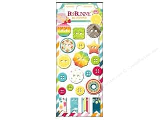 Summer Chipboard Shapes: Bo Bunny Buttons 21 pc. Lemonade Stand