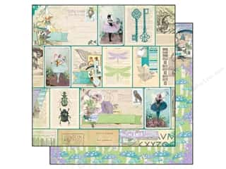 Patterns Angels/Cherubs/Fairies: Bo Bunny 12 x 12 in. Paper Enchanted Garden Fairies (25 pieces)
